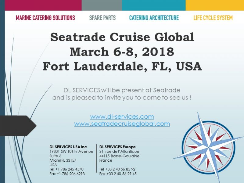DL SERVICES will attend to 2018 Seatrade Cruise Global